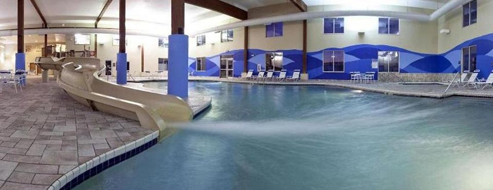 indoor pool with water slide
